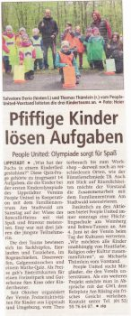 Zeitungsartikel_Kinderolympiade_FeedbackZeitung